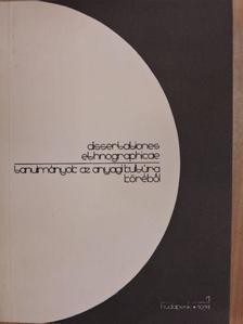 Balassa M. Iván - Tanulmányok az anyagi kultúra köréből 1973/1. [antikvár]