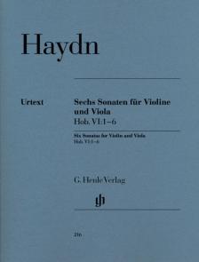 HAYDN J. - SECHS SONATEN FÜR VIOLINE UND VIOLA HOB. VI:1-6 URTEXT (FRIESENHAGEN)