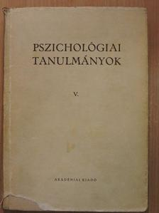 Barkóczi Ilona - Pszichológiai tanulmányok V. [antikvár]
