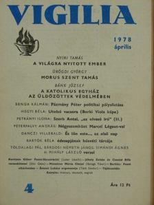 Bárdosi Németh János - Vigilia 1978. április [antikvár]