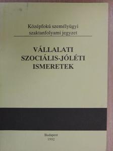 Mészáros János - Vállalati szociális-jóléti ismeretek [antikvár]