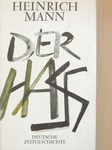 Heinrich Mann - Der Hass [antikvár]
