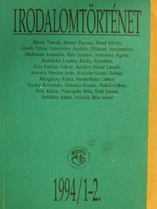 Bécsy Tamás - Irodalomtörténet 1994/1-2. [antikvár]