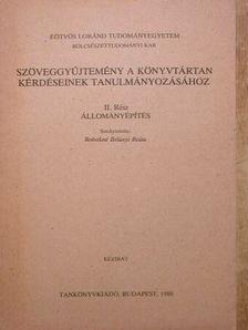 A. Bookstein - Szöveggyűjtemény a könyvtártan kérdéseinek tanulmányozásához II. [antikvár]