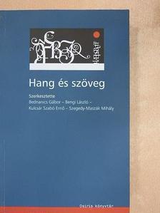 Bartal Mária - Hang és szöveg [antikvár]
