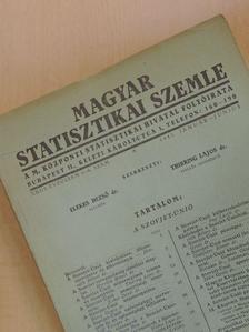 Dr. Barsy Gyula - Magyar Statisztikai Szemle 1945. január-június [antikvár]