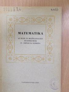 Faragó László - Matematika IV. [antikvár]