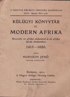 HORVÁTH JENŐ - Modern Afrika [antikvár]