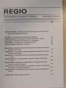 Barabás Béla - Regio 1990. szeptember [antikvár]