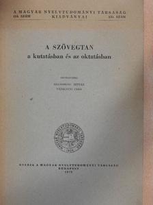 Adamik Tamás - A szövegtan a kutatásban és az oktatásban [antikvár]