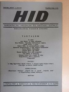 Ady Endre - HID 1938. november [antikvár]