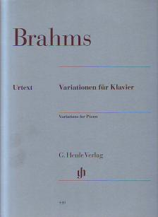 BRAHMS... - VARIATIONEN FÜR KLAVIER URTEXT (McCORKLE / GERLACH/KANN / HERTTRICH / KRAUS)