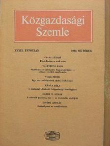 Bródy András - Közgazdasági Szemle 1992. október [antikvár]
