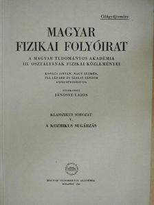 Bruno Rossi - Magyar Fizikai Folyóirat - Klasszikus sorozat V. [antikvár]
