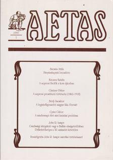 Deák Ágnes - Aetas 1997/1. [antikvár]