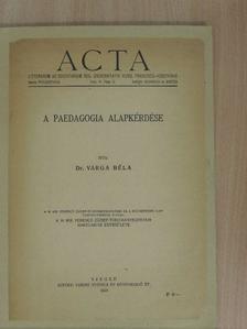 Dr. Varga Béla - Sectio Philosophica VI. [antikvár]