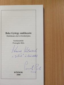 Aniszi Kálmán - Beke György emlékezete (dedikált példány) [antikvár]