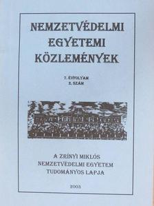 Bartha Tibor - Nemzetvédelmi egyetemi közlemények 2003/2. [antikvár]