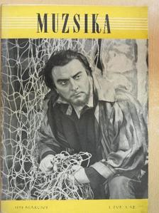 Balla Péter - Muzsika 1958. március [antikvár]