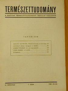 Gorka Tivadar - Természettudomány 1948. július [antikvár]
