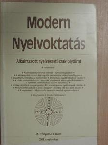 Bandli Judit - Modern Nyelvoktatás 2003/2-3. [antikvár]