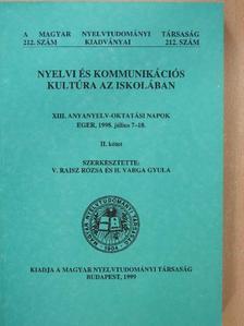 Adamikné Jászó Anna - Nyelvi és kommunikációs kultúra az iskolában II. [antikvár]