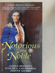 Janice Bennett - Notorious and Noble [antikvár]