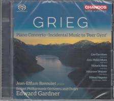GRIEG - PEER GYNT/PIANO CONCERTO,SACD DAVIDSEN MOEN BAVOUZET GARDNER