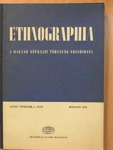 Balogh István - Ethnographia 1974/1. [antikvár]