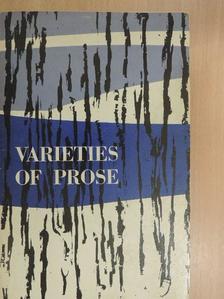 Francis Bacon - Varieties of Prose [antikvár]