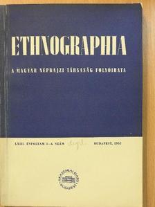 Bakó Ferenc - Ethnographia 1952/3-4. [antikvár]
