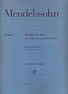 MENDELSSOHN - SONATE ES-DUR FÜR KLARINETTE UND KLAVIER URTEXT (HERTTRICH / SCHILDE)