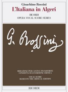 ROSSINI - L'ITALIANA IN ALGERI. RIDUZIONE PER CANTO E PIANOFORTE