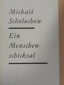 Michail Scholochow - Ein Menschenschicksal [antikvár]