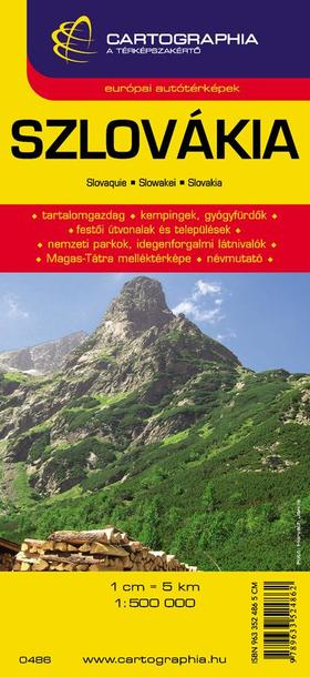 """Cartographia Kiadó - SZLOVÁKIA TÉRKÉP - CART. - """"SC"""" -"""