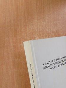 Cserháti Endre - A Magyar Tudományos Akadémia Agrártudományok Osztályának 1999. évi tájékoztatója [antikvár]