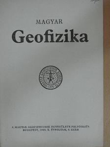 B. Szabó László - Magyar geofizika 1969/6. [antikvár]