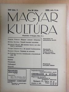Bunyor János - Magyar Kultúra 1943. február 5. [antikvár]