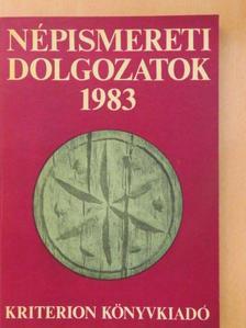 Antal Imre - Népismereti dolgozatok 1983 [antikvár]