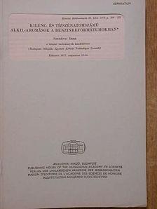 Szebényi Imre - Kilenc- és tízszénatomszámú alkil-aromások a benzinreformátumokban [antikvár]