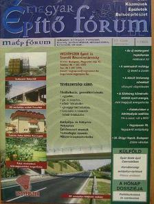 Magyar Építő Fórum 2002. október [antikvár]