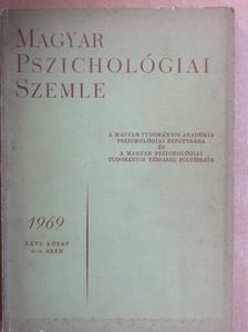 Bakonyi Pál - Magyar Pszichológiai Szemle 1969/3-4. [antikvár]