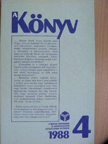 Balabán Péter - A Könyv 1988/4. [antikvár]