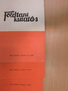 Balla Kálmán - Földtani Kutatás 1990/1-4. [antikvár]