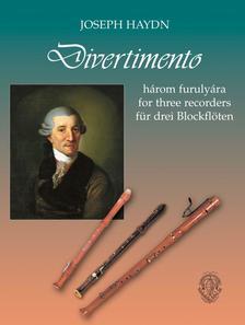 Joseph Haydn, átdolg. Helmut Brook - Divertimento 3 furulyára - kotta
