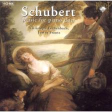 SCHUBERT - MUSIC FOR PIANO DUET 4CD ESCHENBACH, FRANTZ