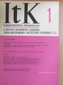 Ács Pál - Irodalomtörténeti Közlemények 1981/1. [antikvár]