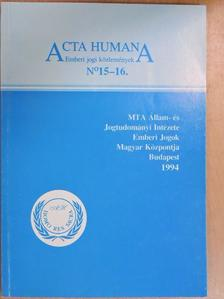 Ádám Antal - Acta Humana 15-16. [antikvár]