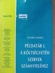 Szabó Mária - Példatár I. a költségvetési szervek számviteléhez [antikvár]