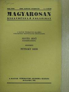 Bárczi Géza - Magyarosan 1939. január-február [antikvár]